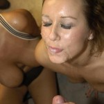 Bambi Black and Ashley Rider take on facials and cumshots