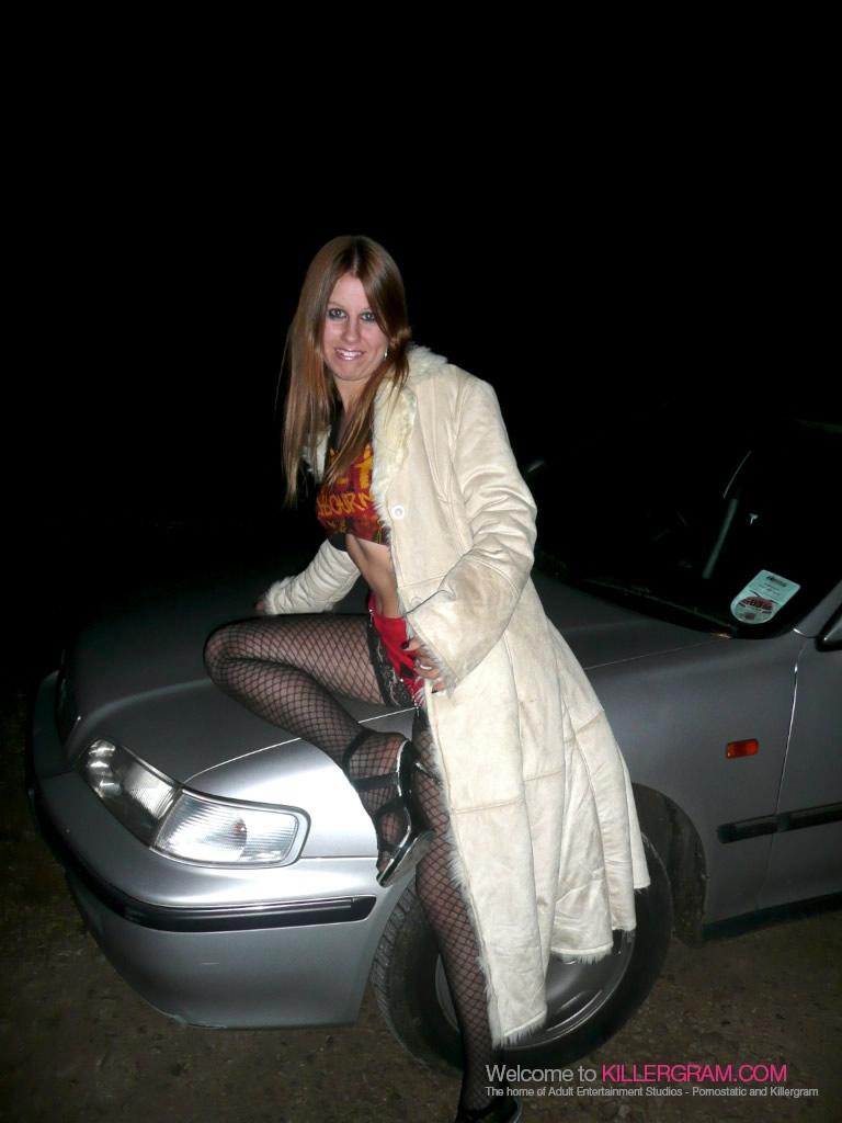 image British slut sandie caine in solo action in stockings