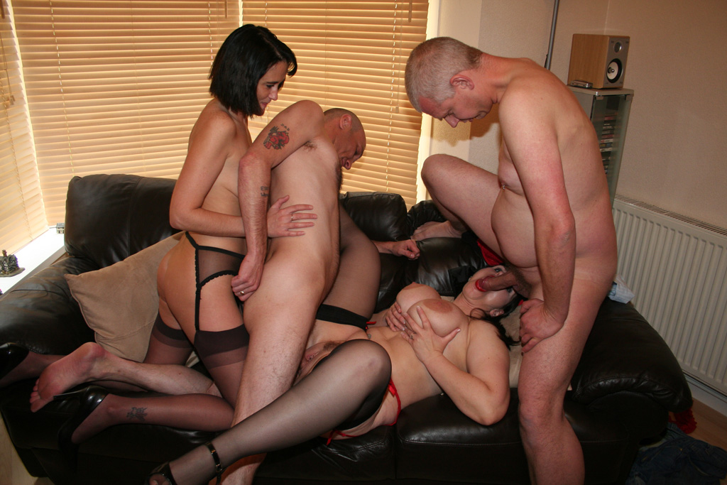 Couples seducing each other swingers fucking