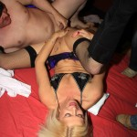 Lady bukkake's anal fuck