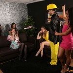 Stripper gets used at a hen party